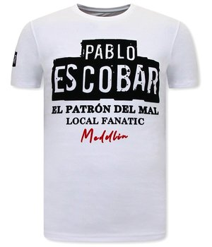 Local Fanatic El  Patron T Shirt Herr - Vit