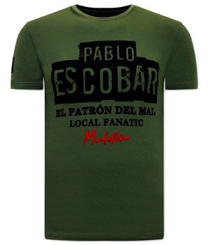Local Fanatic El  Patron T Shirt Herr - Grön