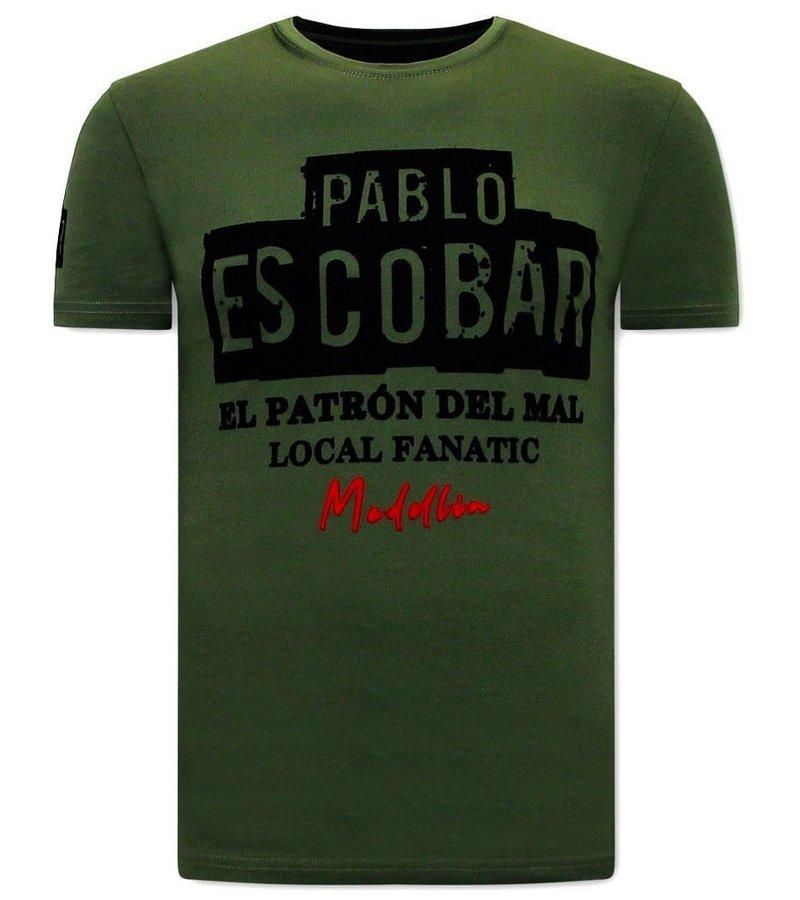 Local Fanatic El  Patron T Shirt Herr - Grön