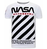 Local Fanatic NASA  Herr T Shirt - Vit
