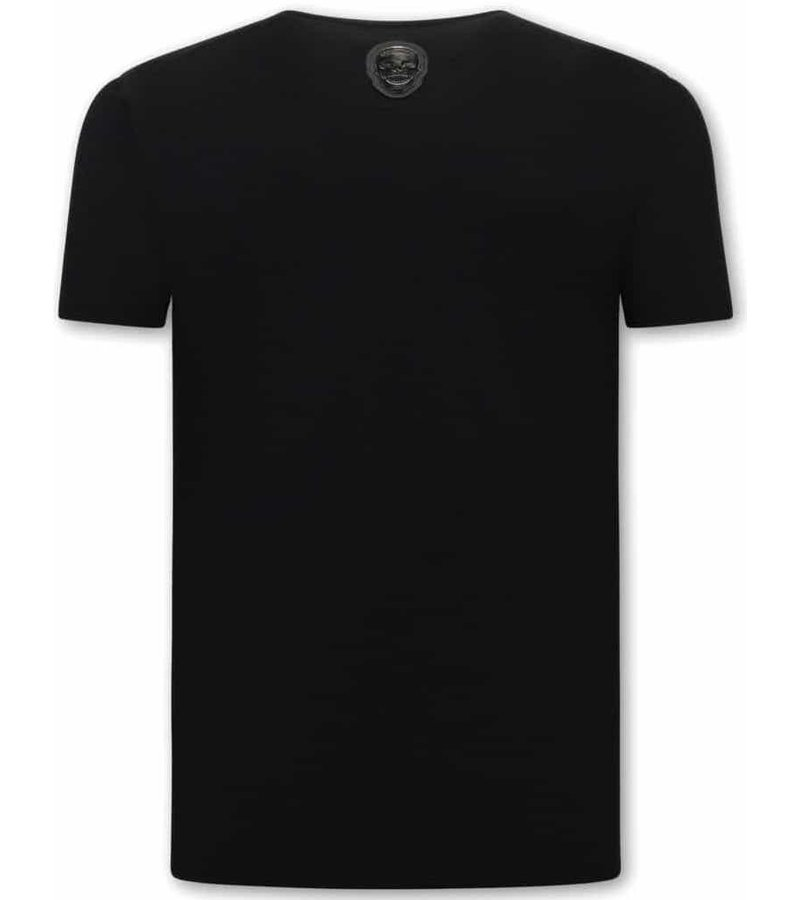 Local Fanatic Narcos Plata O Plomo  Herr T-Shirt - Svart