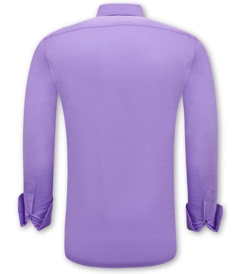 Tony Backer Herrskjorta Slim Fit - 3073 - Violett