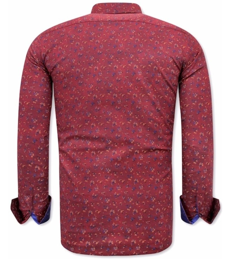 Tony Backer Skjorta Med Blommönster - 3064 - Bordeaux