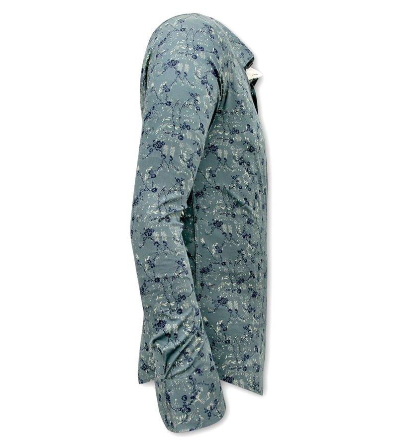 Tony Backer Skjorta Med Blommönster - 3065 - Grön