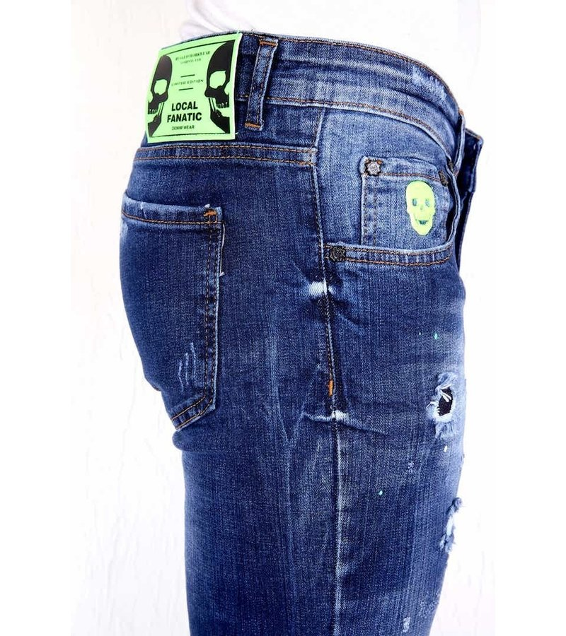 Local Fanatic Snygga Jeans För Herr - 1005 - Bla