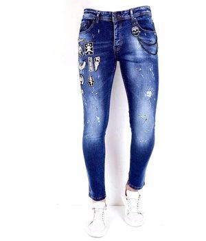 Local Fanatic Sönderslitna Jeans -1004 - Bla