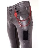 Local Fanatic Trendiga Jeans Herr - 1032 - Gra