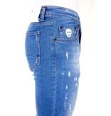 Local Fanatic Jeans Med Färgstänk Herr - 1031- Bla