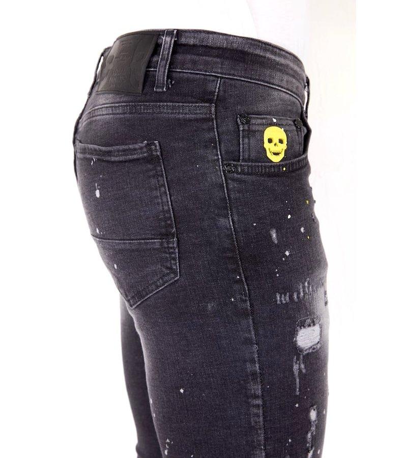 Local Fanatic Jeans Med Sliten Effekt - 1033 - Svart