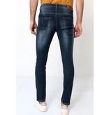 True Rise Jeans Slim Fit Herr - D-3033 - Bla
