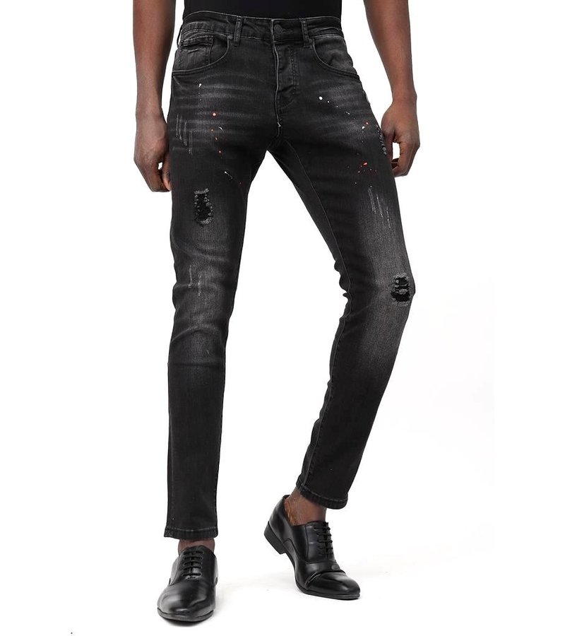 True Rise Jeans Outlet Herr - D-3113 - Svart