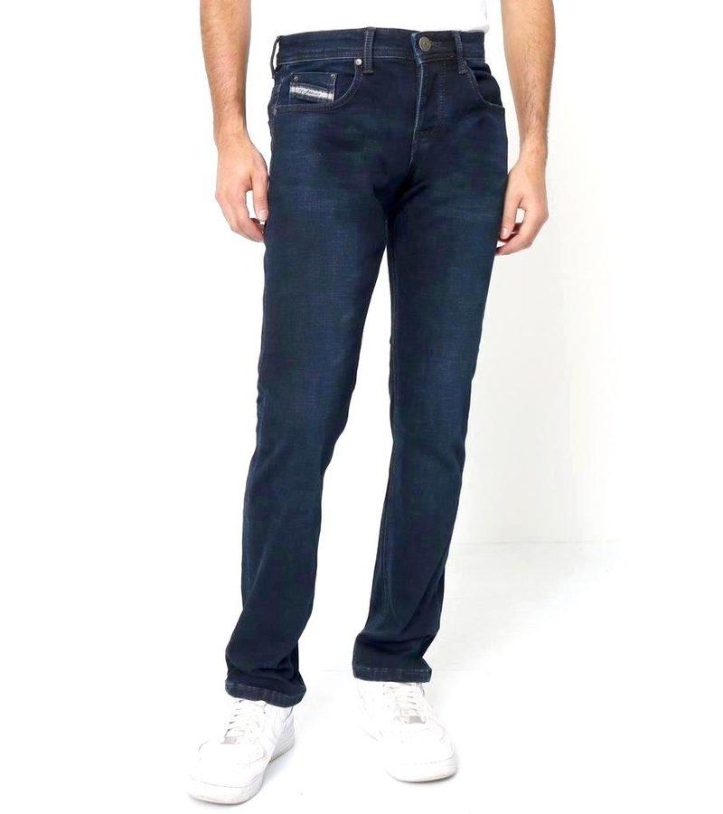 True Rise Billiga Jeans Online Herr - A-11044 - Bla