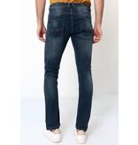 True Rise Jeans Byxor Herr - A-11049 - Bla