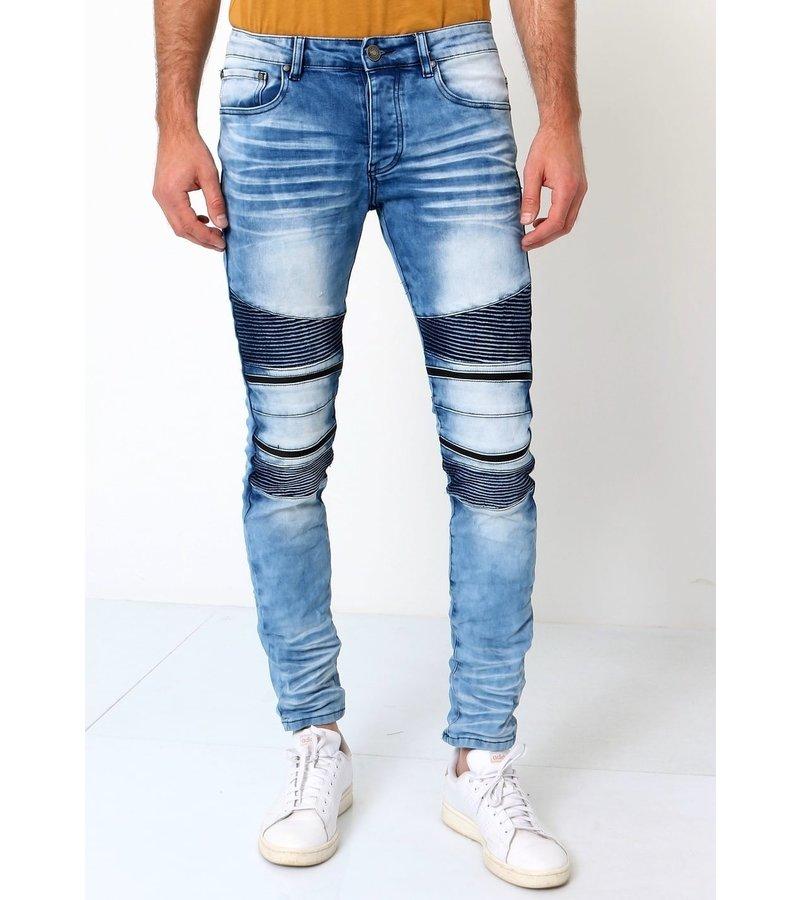 True Rise Jeans Med Sliten Effekt - 3038 - Bla