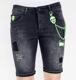 Local Fanatic Shorts Jeans Herr - 1045 - Svart