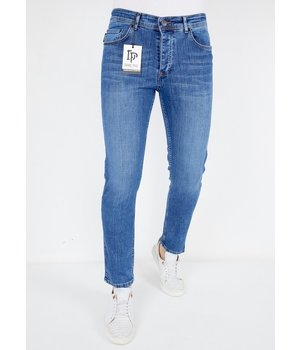 True Rise Regular Fit Jeans För Män - A53C - Bla