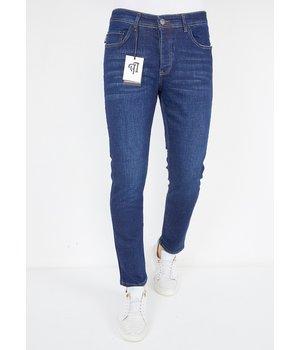 True Rise Jeans För Män Normal Passform - A53.B01 - Bla
