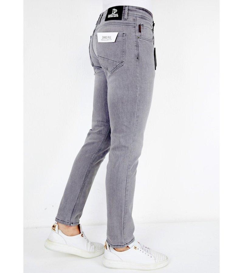 True Rise Jeans Med Raka Ben - A61.H - Grå