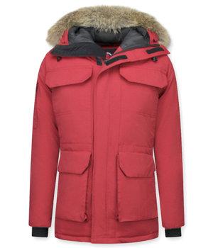 Beluomo Man Expedition Parka - Vinterjackor Mode Herr - 7503R - Röd