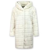 Save Style Pälsjacka dam - Jacka med vit päls - Vit