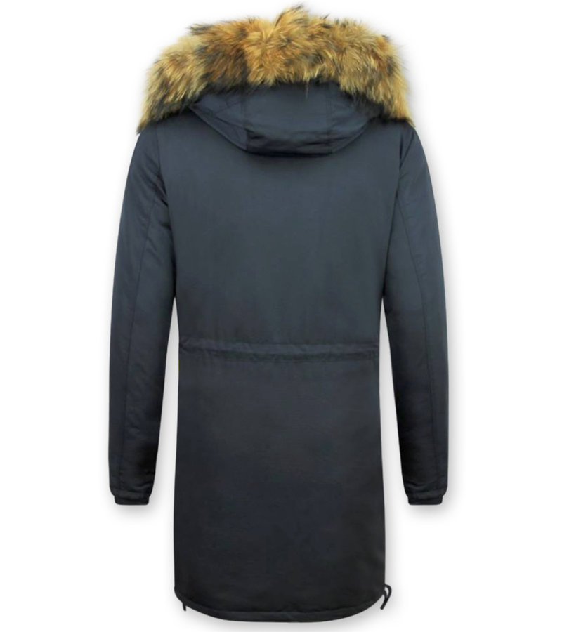 Macleria Parka Damer  -  Quilted Jacka Vinterjacka - DM8836B - Blå