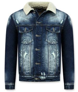 Wareen W Jeansjacka med päls - Trucker Jacke - Blå