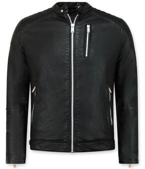 Enos Svart skinnjacka Herr - Faux leather jacket