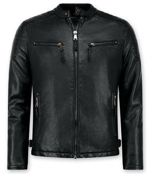 Enos Skinnjacka herr - Faux leather jacket - Svart
