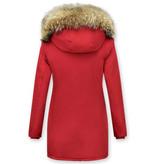 TheBrand Damer Vinterjackor Varma - Wooly Jacka Lang - LB280PM-R - Röd