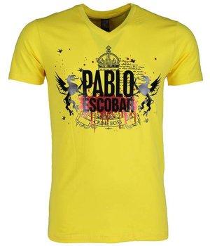 Mascherano T-shirt - Pablo Escobar Crime Boss - Geel