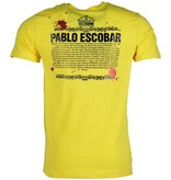 Mascherano Pablo Escobar Crime Boss - Herr T Shirt - 1333GE - Gul