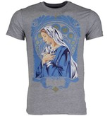 Mascherano Holy Mary Print - Man T Shirt - 51006G - Grå