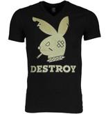 Mascherano Bunny Destroy - Man T Shirt - 1334Z - Svart
