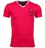 David Mello Broderi Riviera Club - T Shirt Herr - 54092R - Ros