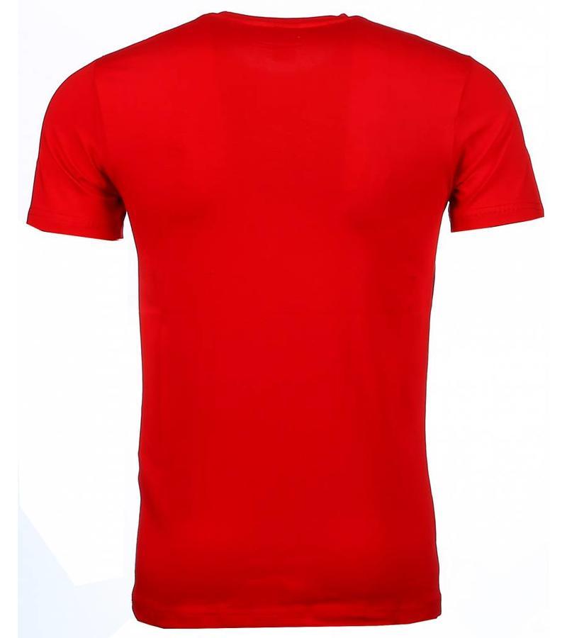 Mascherano Bob Marley Buffalo Soldier - T Shirt Herr - 51010R - Röd