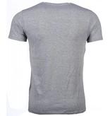 Mascherano Bob Marley Buffalo Soldier - Herr T Shirt - 51010G - Grå
