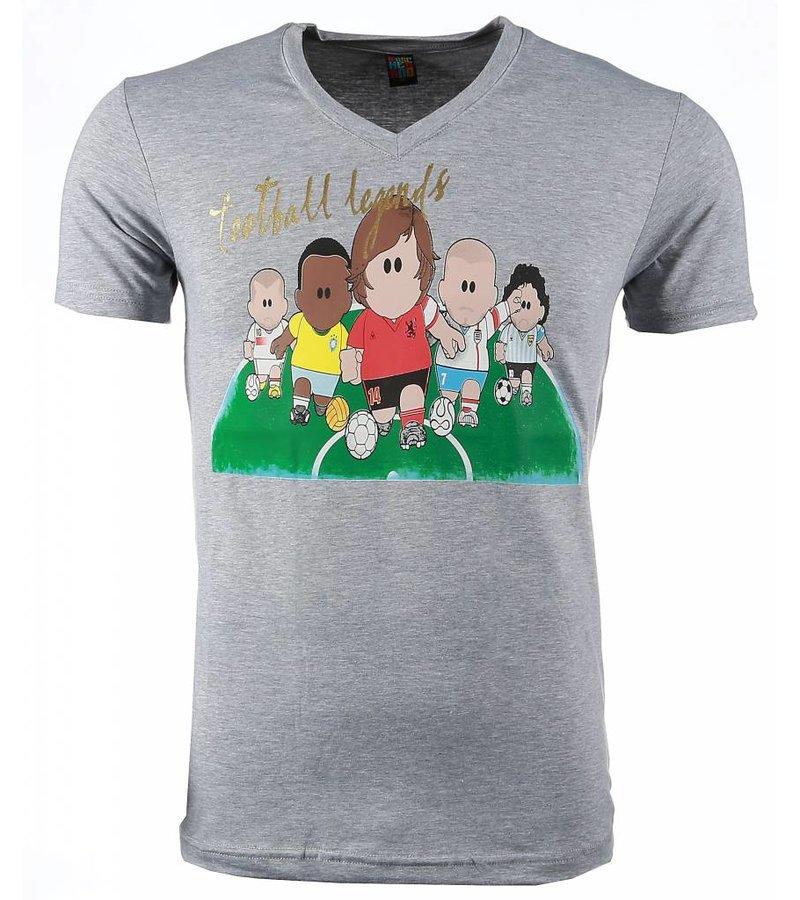 Mascherano Football Legends Print - Herr T Shirt - 54007G - Grå