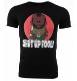 Mascherano A-team Mr. T Shut Up Fool Print - Herr T Shirt - 51076Z - Svart