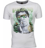 Mascherano Scarface Made To Get Paid Print - Herr T Shirt - 2009W - Vit