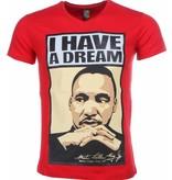 Mascherano Martin Luther King I Have A Dream - T Shirt Herr - 2302R - Röd