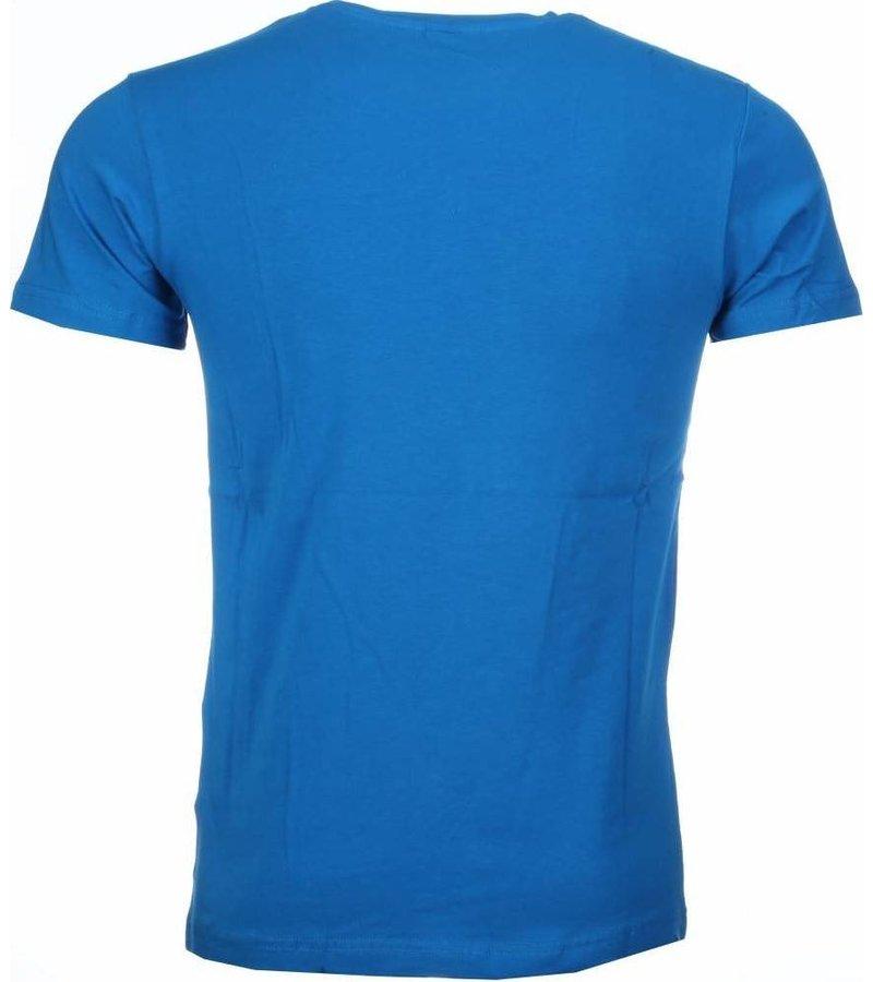 Mascherano Anonymous Disobey Print - Herr T Shirt - 2301B - Blå
