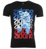 Mascherano Zidane Print - Herr T Shirt - 1166Z - Svart