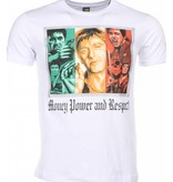 Mascherano Scarface Money Power Respect - Man T Shirt - 1164W - Vit