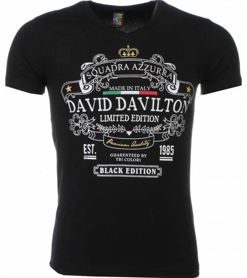 Mascherano Black Edition Print - Man T Shirt - 1417Z - Svart