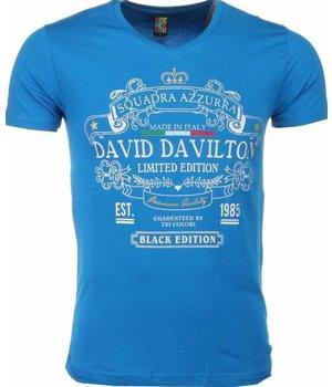 Mascherano Black Edition Print - T Shirt Herr - 1417B - Blå