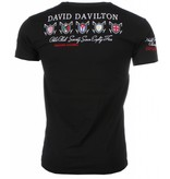David Mello Italiaanse T-shirt - Korte Mouwen Heren - Borduur Polo Players - Zwart