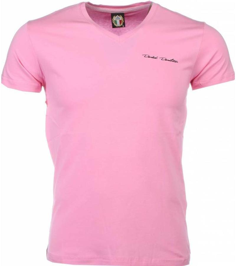 David Mello T-shirt - Blanco Exclusive - Roze