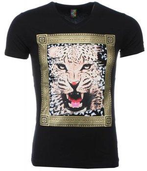 Mascherano Tuffa Skjortor Med Tryck Tiger - T Shirt Herr - 1415Z - Svart