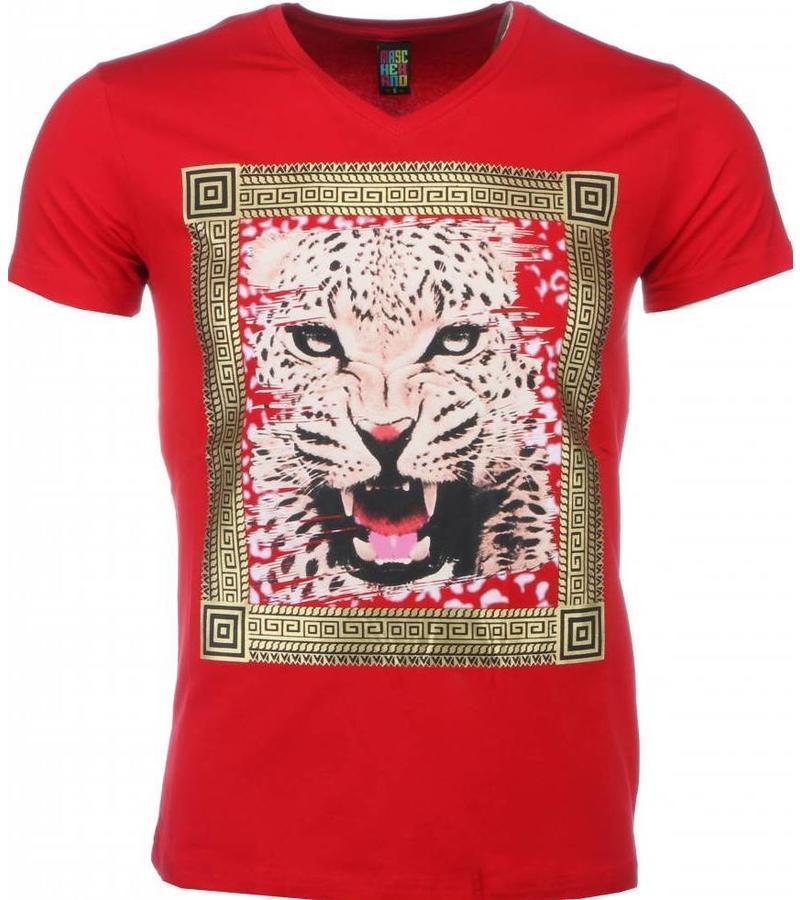 Mascherano Tuffa Skjortor Med Tryck Tiger - Herr T Shirt - 1415R - Röd