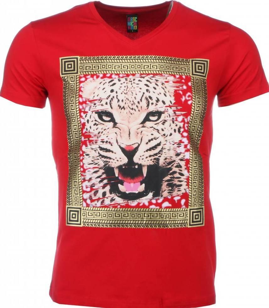 Tuffa Skjortor Med Tryck Tiger | Herr T Shirt | Styleitaly.se